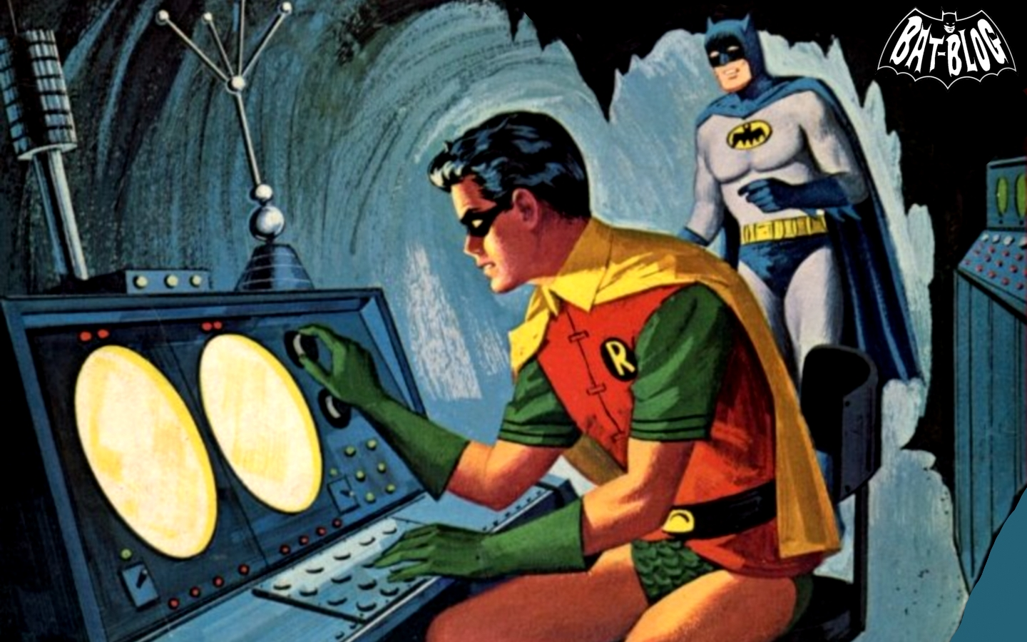 BATMAN AND ROBIN WALLPAPERS   1966 Coloring Book Graphics 1440x900