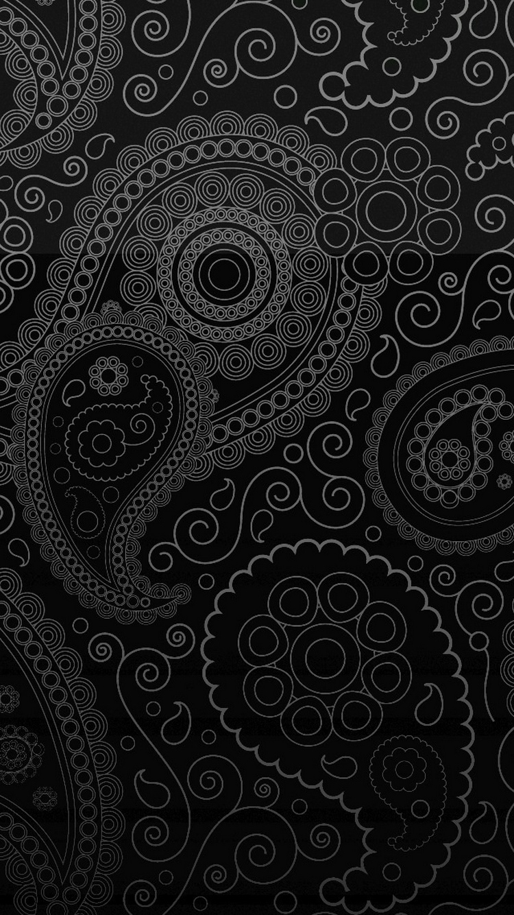 Dark Curly Pattern iPhone 6 Wallpaper HD Wallpapers and iPhone 6 750x1334