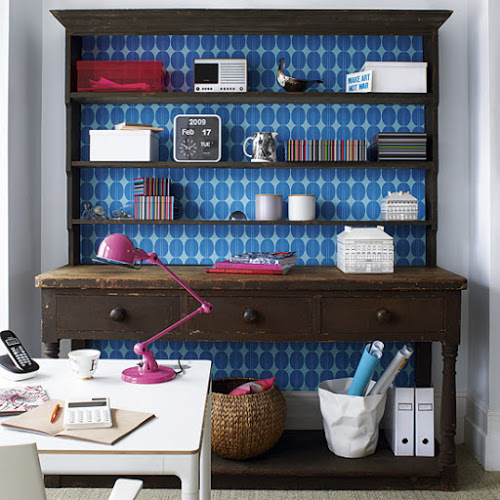 Decorating ideas using wallpaper How About Orange 500x500