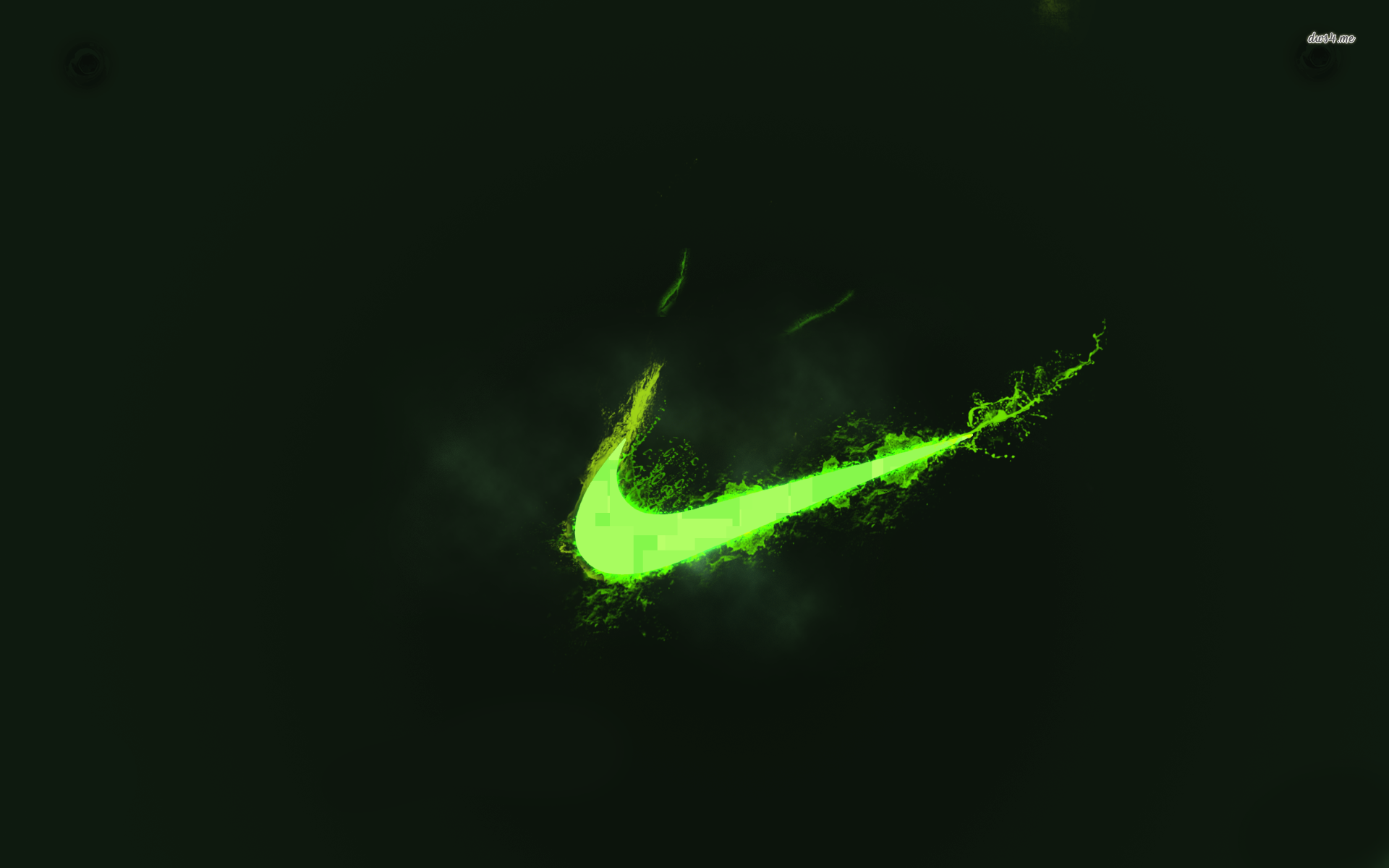 Neon Green Nike Logo Wallpaper Hd For Desktop cute Wallpapers 1920x1200