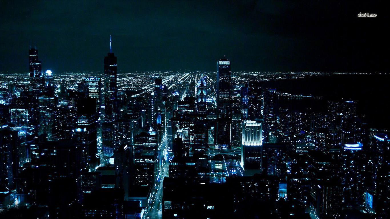 Chicago at night wallpaper   World wallpapers   20254 1366x768