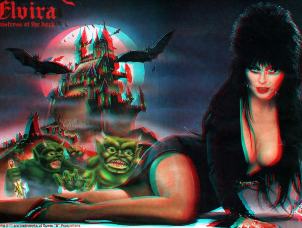 Elvira Mistress Of The Dark 3D 1 3D Anaglyph Conversion Graphics Code 1023x772