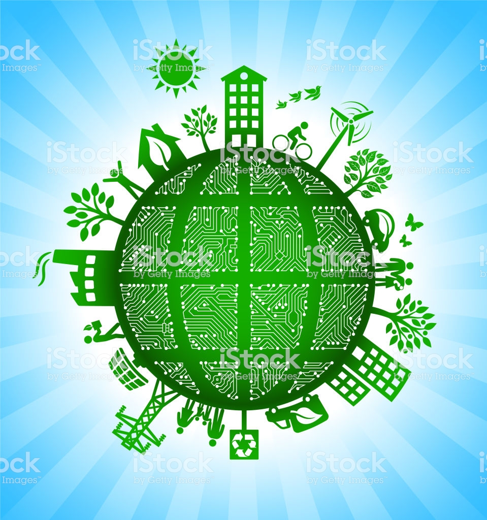 Black Globe Wireframe On Green Environmental Conservation 959x1024