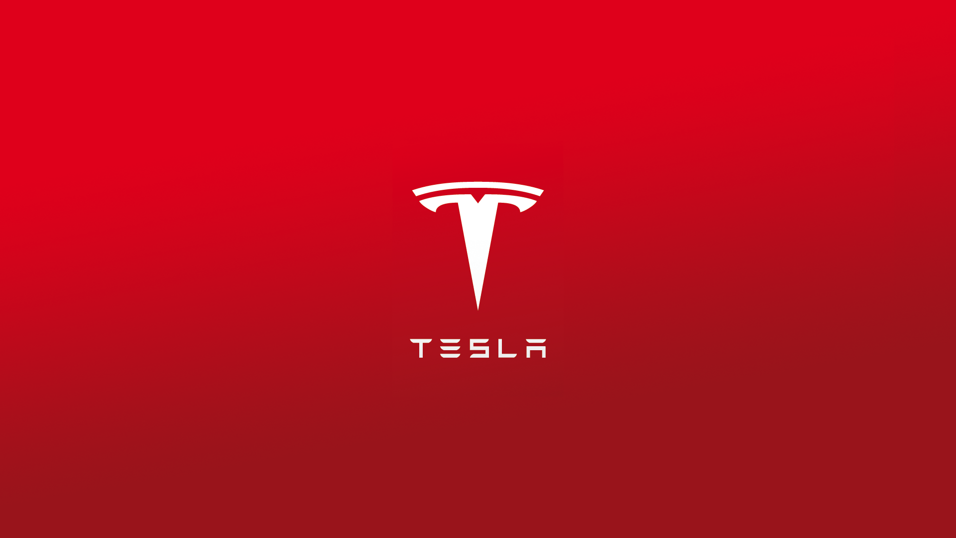 Testla Logo Background Red Phone and Desktop Wallpapers 1920x1080