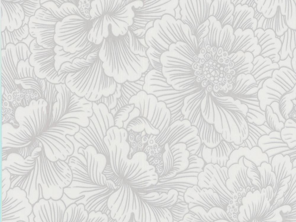 flourish white silver floral wallpaper 2015   Grasscloth Wallpaper 1000x750