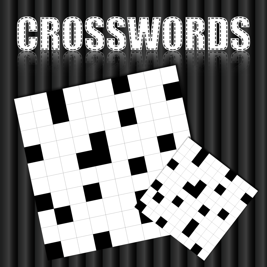 Black And White Crossword Puzzles Background With Mirror 1024x1024
