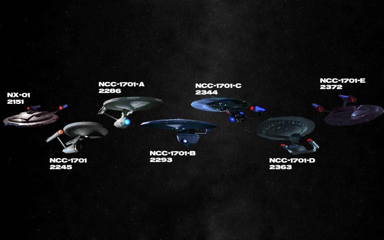 Trek Wallpaper 1280x800 Star Trek Ships Timeline USS Enterprise 1280x800