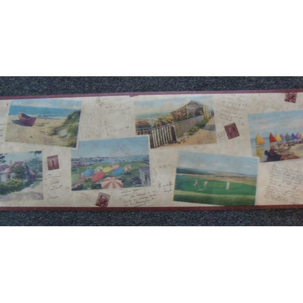 Border Seaside Postcards   Wallpaper Brokers Melbourne Australia 600x600