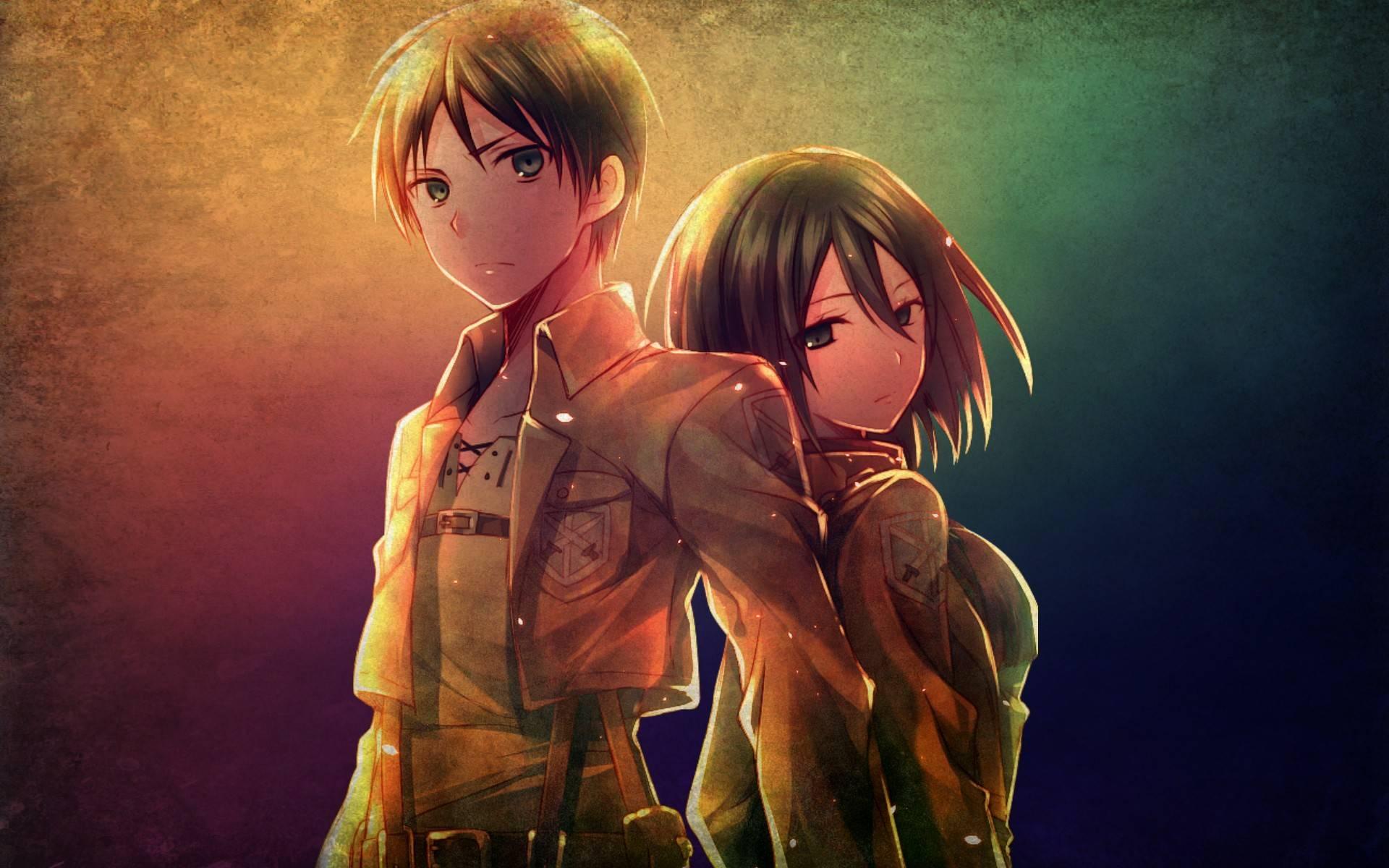 Free Download Mikasa And Eren Attack On Titan Wallpaper 1920x1200