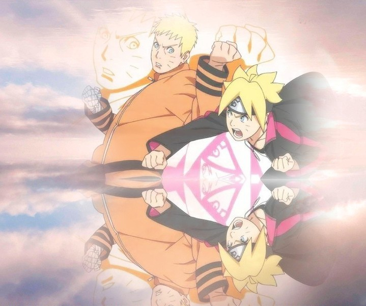 Naruto and Boruto Reflection Wallpaper by weissdrum 719x600