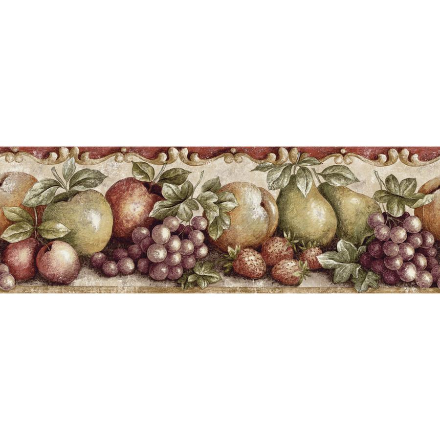 Purple Jewel Tone Fruit Prepasted Wallpaper Border at Lowescom 900x900