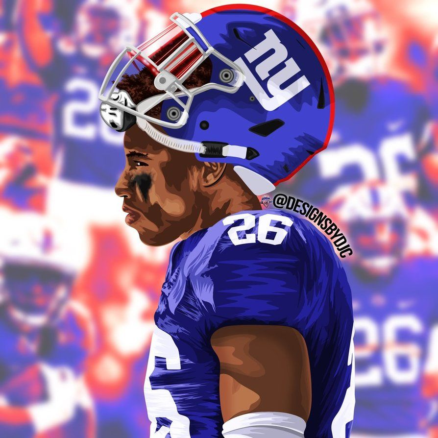 Saquon Barkley by designsbydjc Giants football Nfl football 894x894