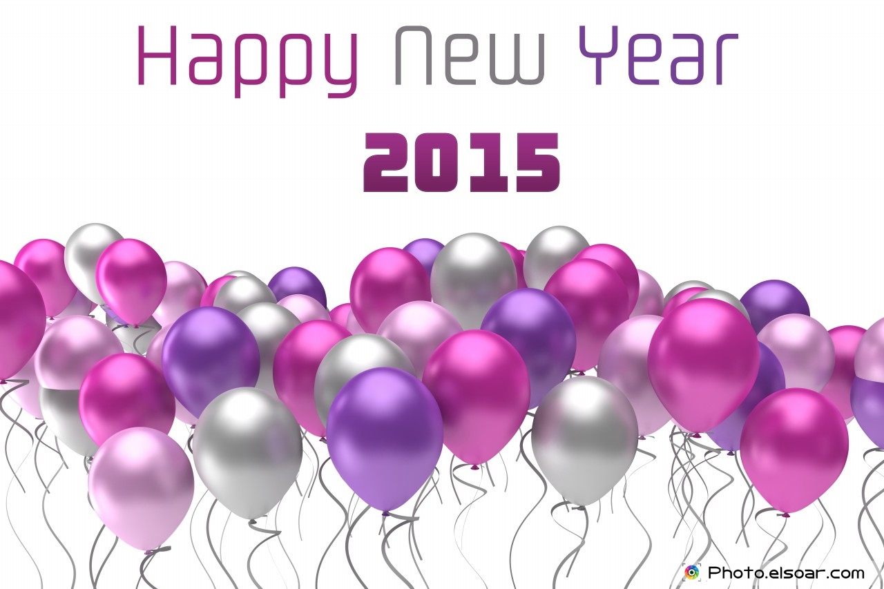 Top 10 Wallpapers For Happy New Year 2015 With Colorful Balloons 1280x853