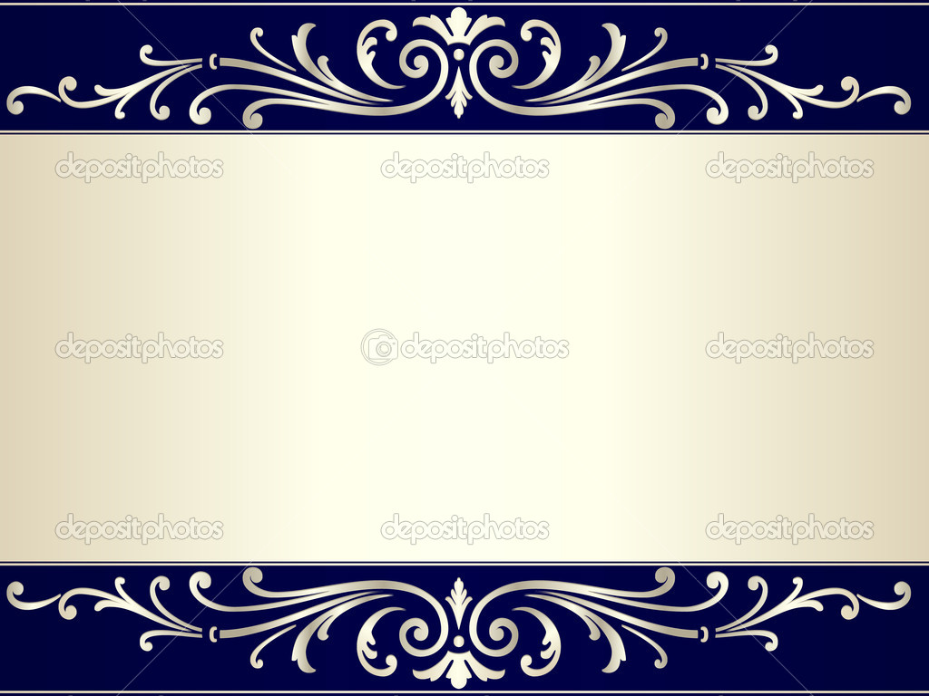 illustration Vintage scroll background in silver beige and bluehtml 1024x768
