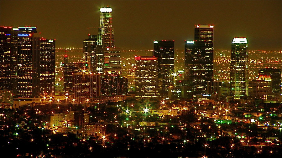 Free Download Los Angeles Skyline Night By Renaissancenoir 900x505 For Your Desktop Mobile Tablet Explore 43 Los Angeles Skyline Wallpaper Los Angeles Angels Wallpapers Hd Downtown Los Angeles Wallpaper