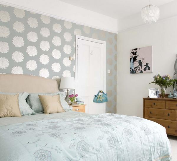 in bedroom Swedish idea of using wallpaper in bedroom 50 bedroom 600x545
