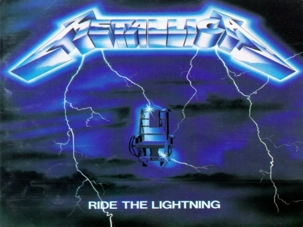 metallica ride the lightning cover album wallpaper 1024x768