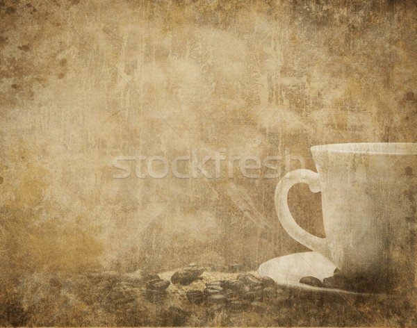 Foto stock Vintage coffee background with coffee cup and coffee