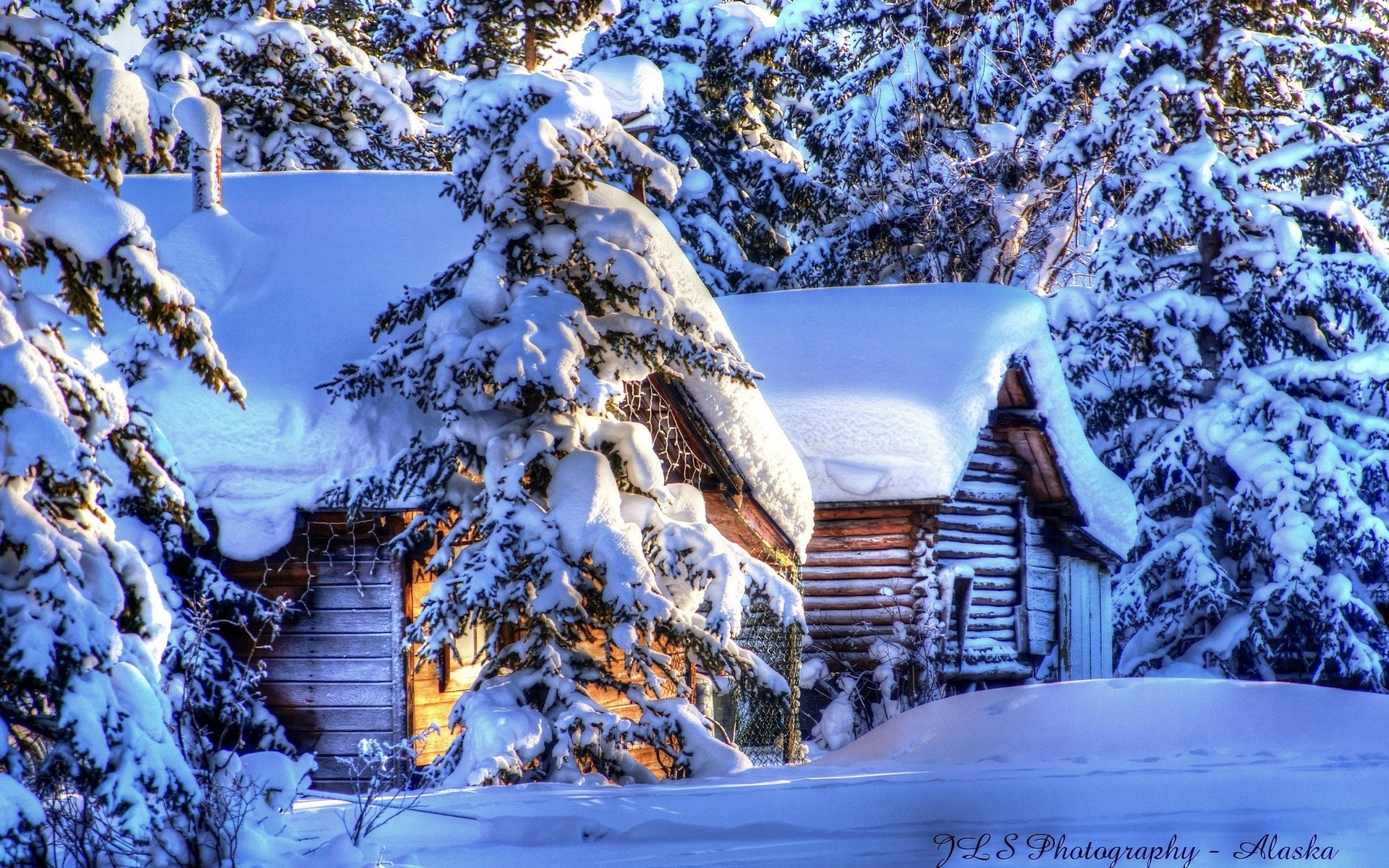 resort winter snow seasons hdr white sunlight wallpaper background 1920x1200