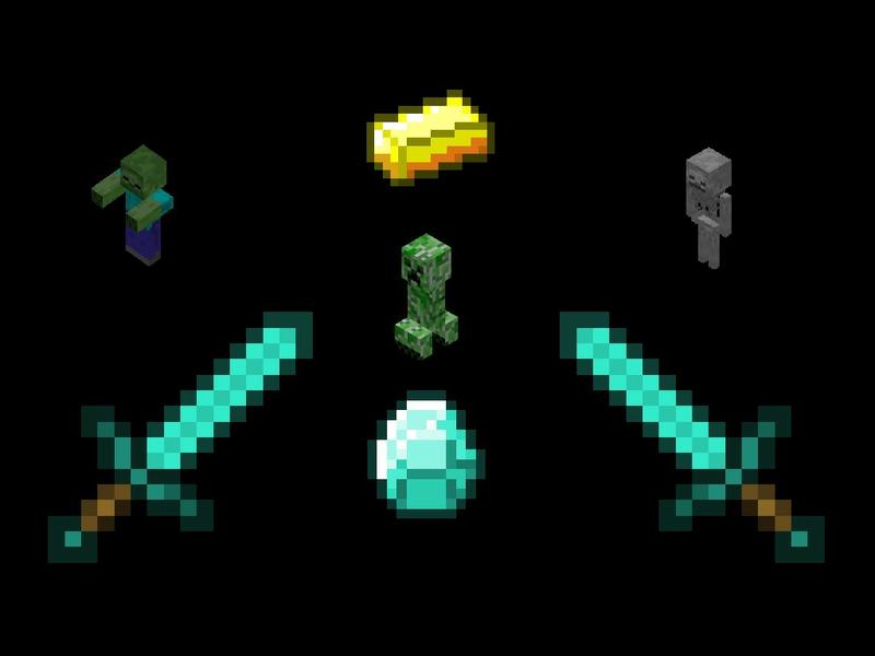 Diamond Minecraft Video Games Age of Conan HD Desktop Wallpaper 800x600