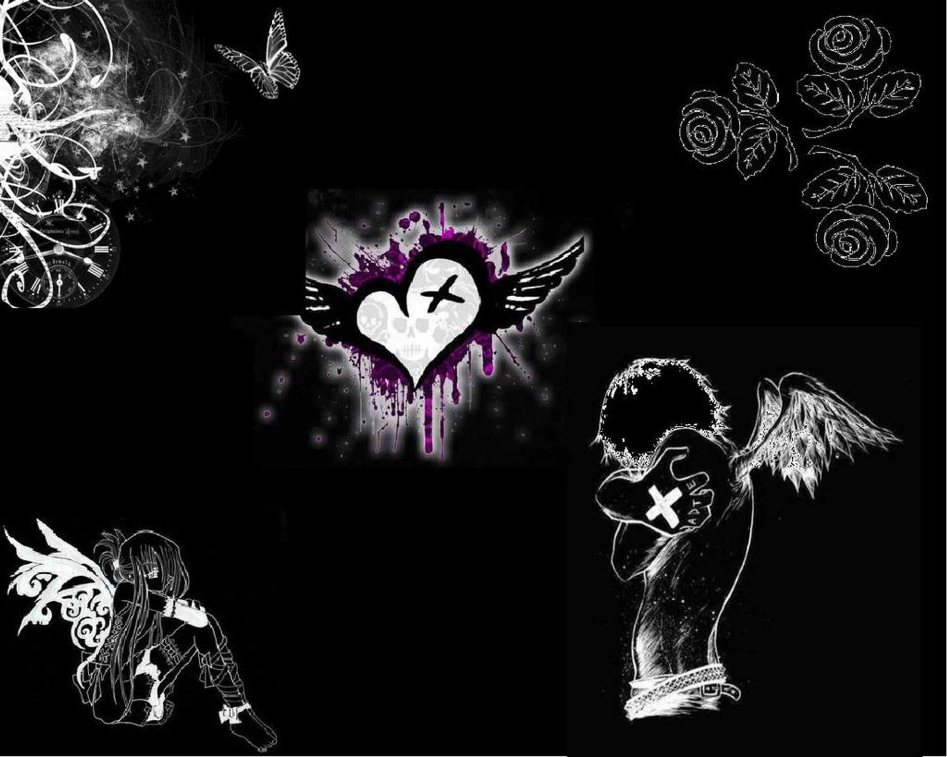 Patreon Emo wallpaper Emo backgrounds Emo art 1920x1536