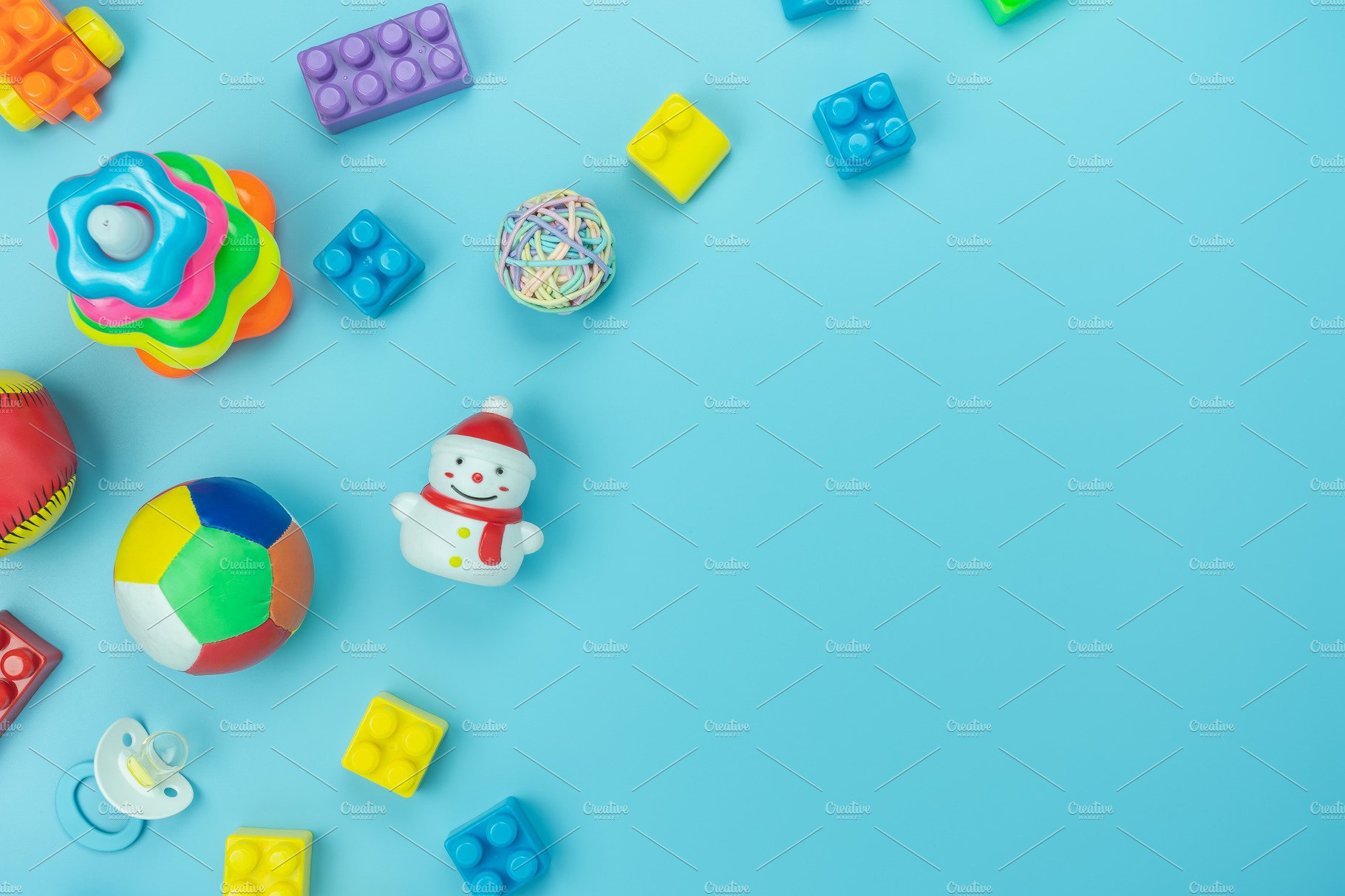 Top view toy kids background containing art handmade and 1820x1213