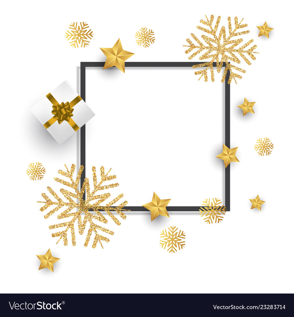 Chirstmas background with glitter snowflakes Vector Image 1000x1080