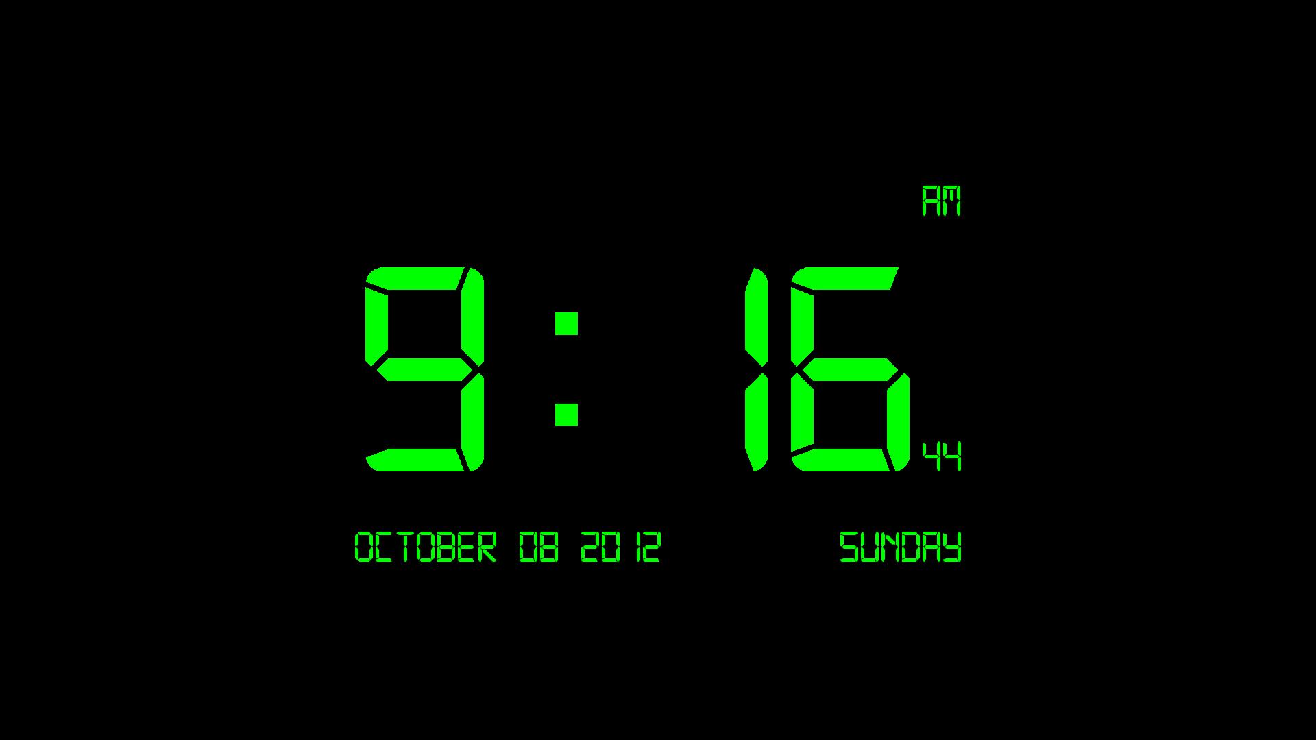 Digital Clock 7   Digital Clock 7 is a screen saver that displays the 1920x1080