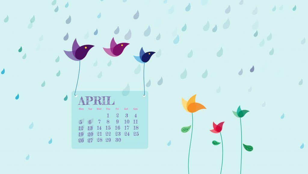 April 2021 Wallpaper Calendar wallpaper Desktop calendar 1024x577