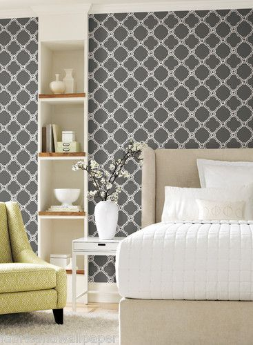 Wallpaper Dark Grey White Diamond Contemporary Modern Wallpaper AP7490 367x500