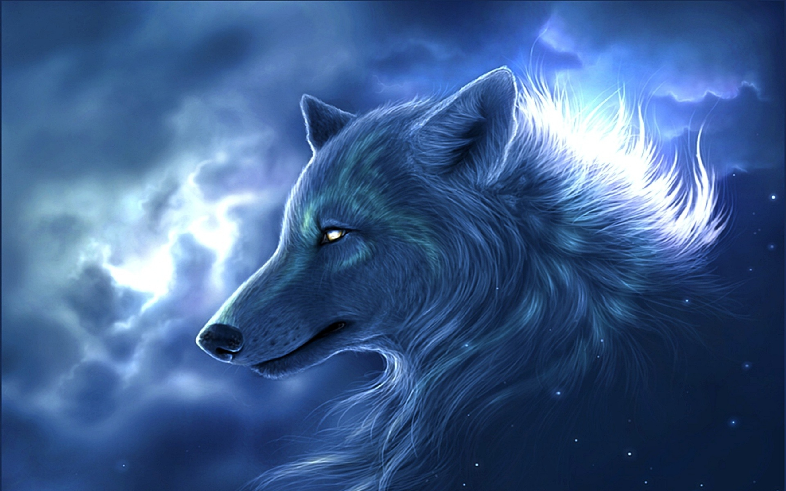 Fantasy Wolf Wallpaper HD 2560x1600