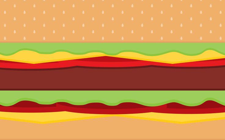 cartoon hamburger wallpaper - photo #5