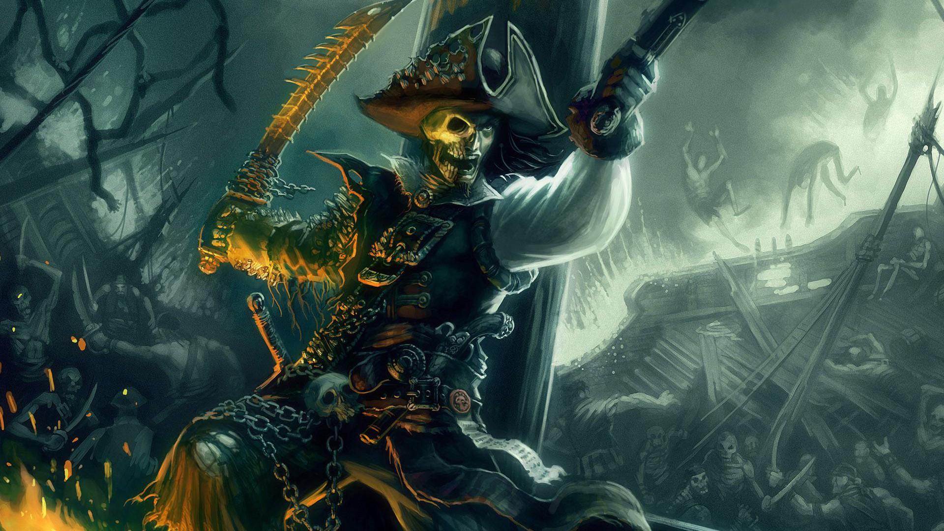 Download Fantasy Skull Pirate Wallpaper | Full HD Wallpapers
