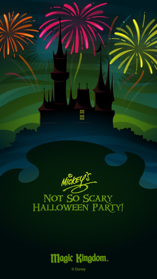 Walt Disney World Halloween cell phone wallpaper NotSoScary 640x1136
