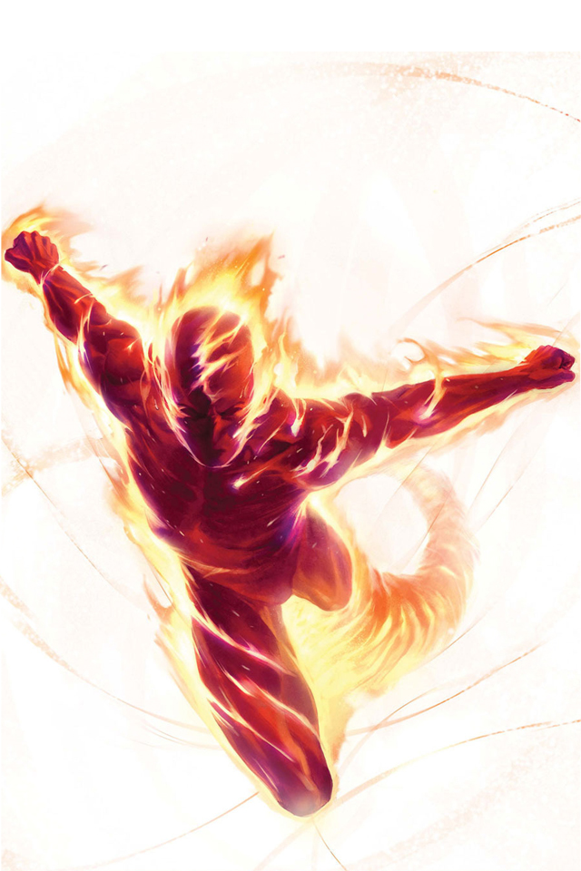 Human Torch I4 download wallpaper for iPhone 640x960