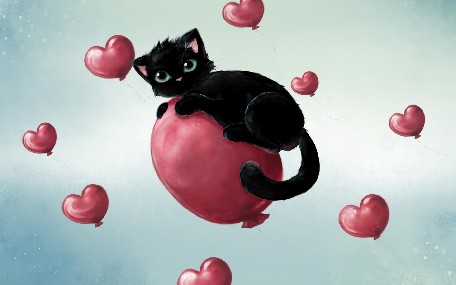 Desktop backgrounds Backgrounds Holiday Valentines Day kitten 1920x1200