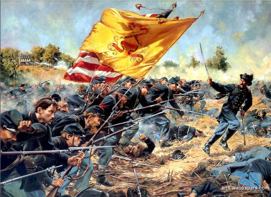 american civil war paintings art prints gallery pictures artworks 874x635