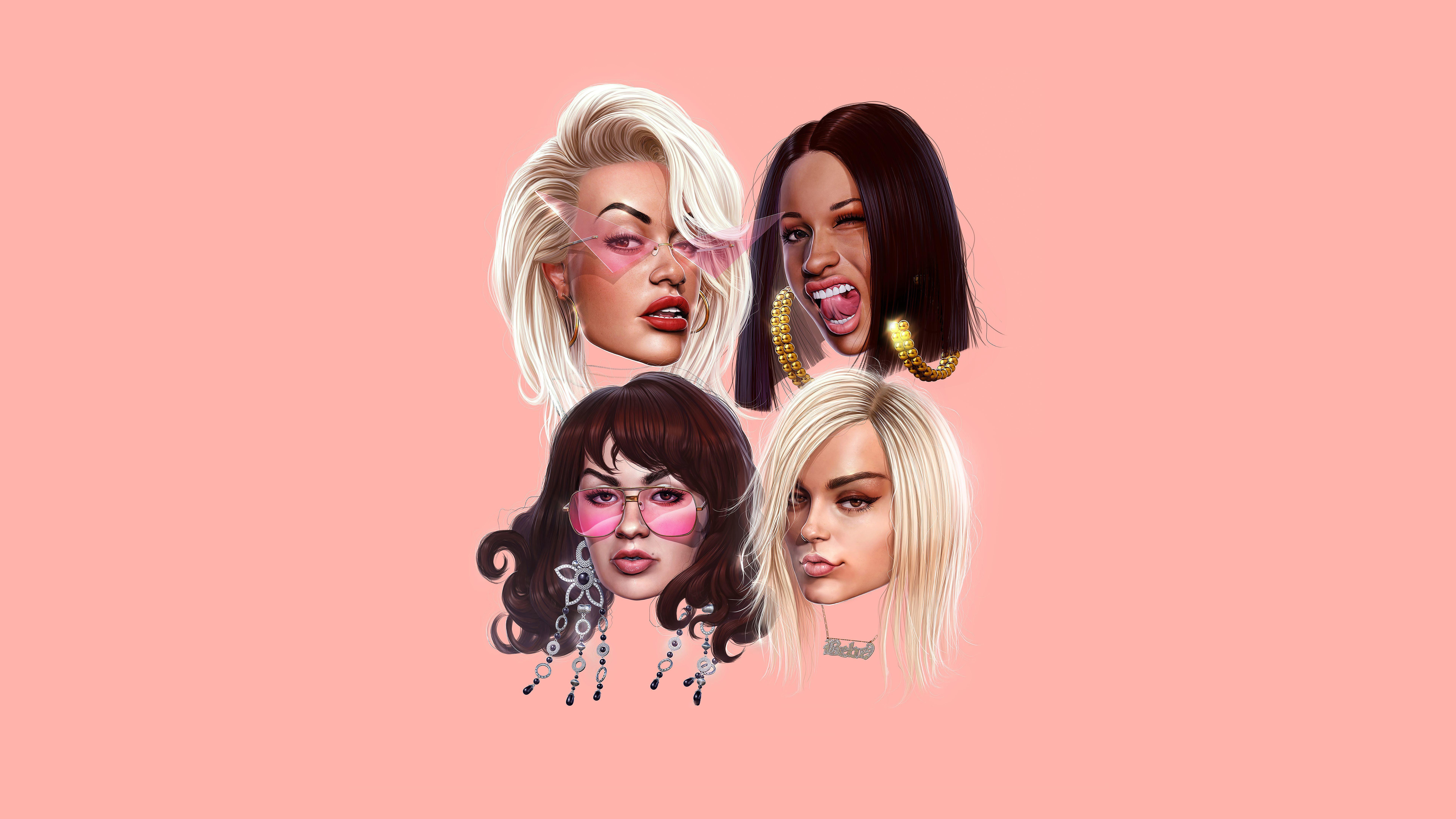 Girls Featuring Cardi B Bebe Rexha Charli Xcx Rita Ora Desktop 7680x4320