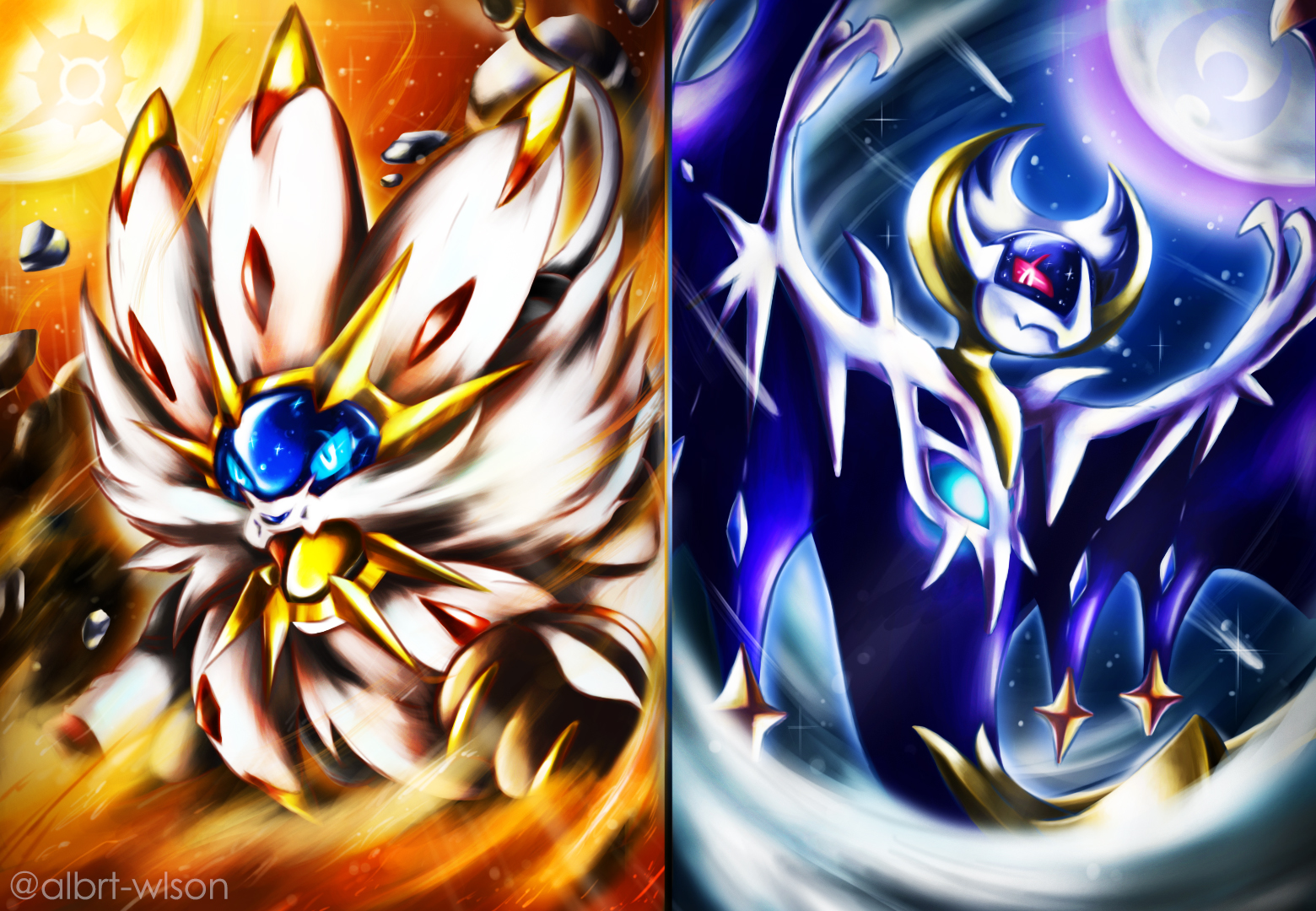 Solgaleo and Lunala Wallpaper and Background Image 1560x1080 1560x1080