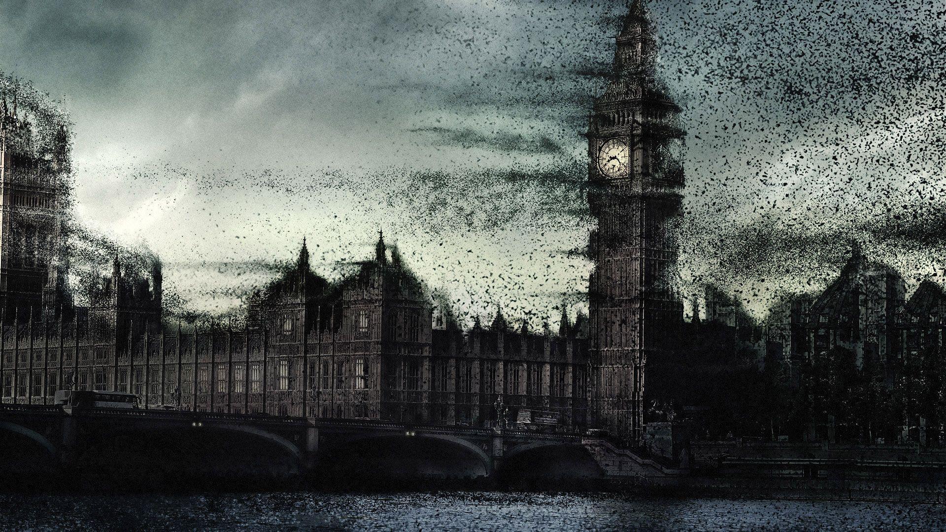 Dark City Backgrounds 1920x1080