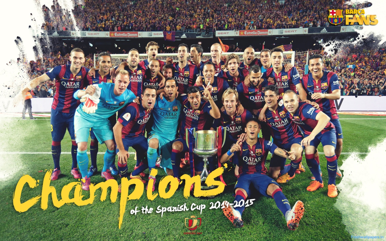FC Barcelona 2015 Champions League Winners wallpapers 1280x800