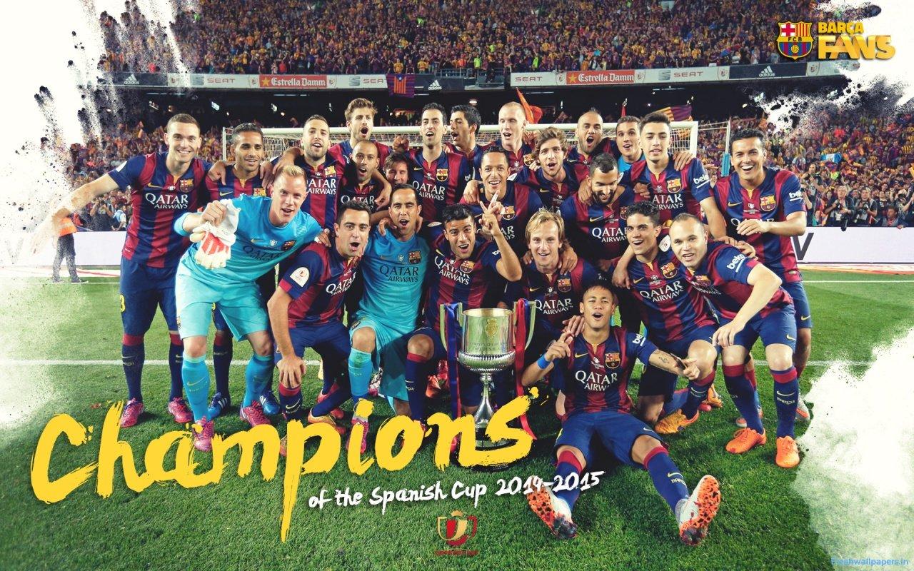 FC Barcelona 2015 Champions League Winners wallpapers 1280x800