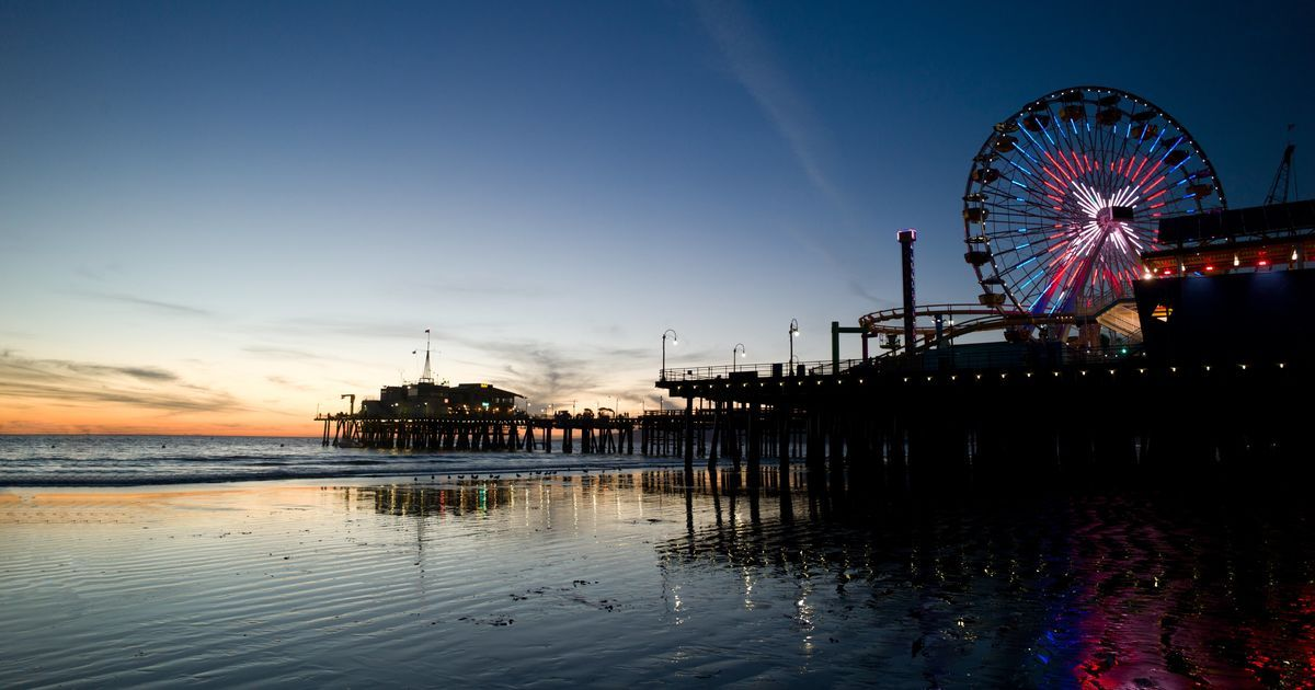 Santa Monica beach Los Angeles 4k HD wallpaper wallpprscom 1200x630