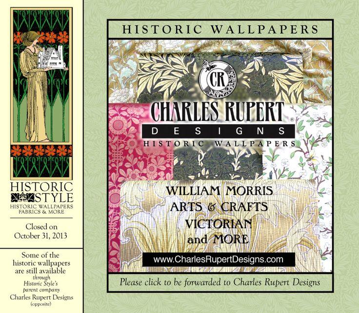 Historic wallpapers catalog Art Nouveau Art Deco Pinterest 736x642