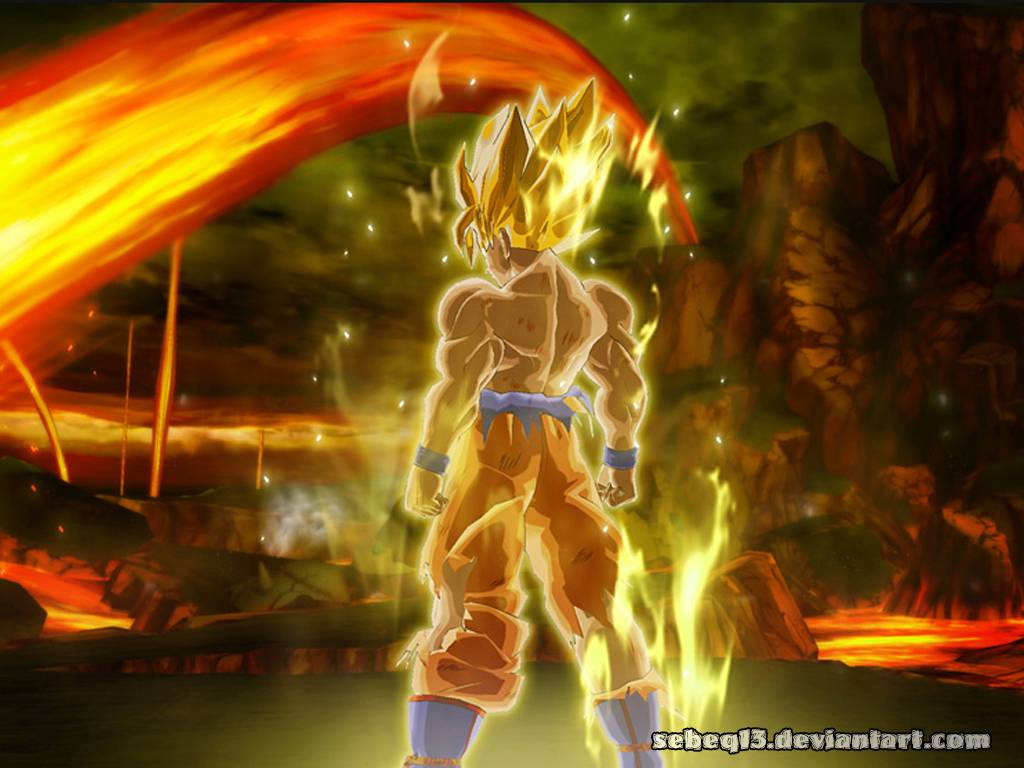 Dragon Ball Z Goku Super Saiyan Hd Wallpaper 1024x768