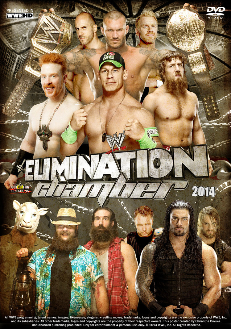 WWE Elimination Chamber 2014 Poster by Chirantha 749x1066