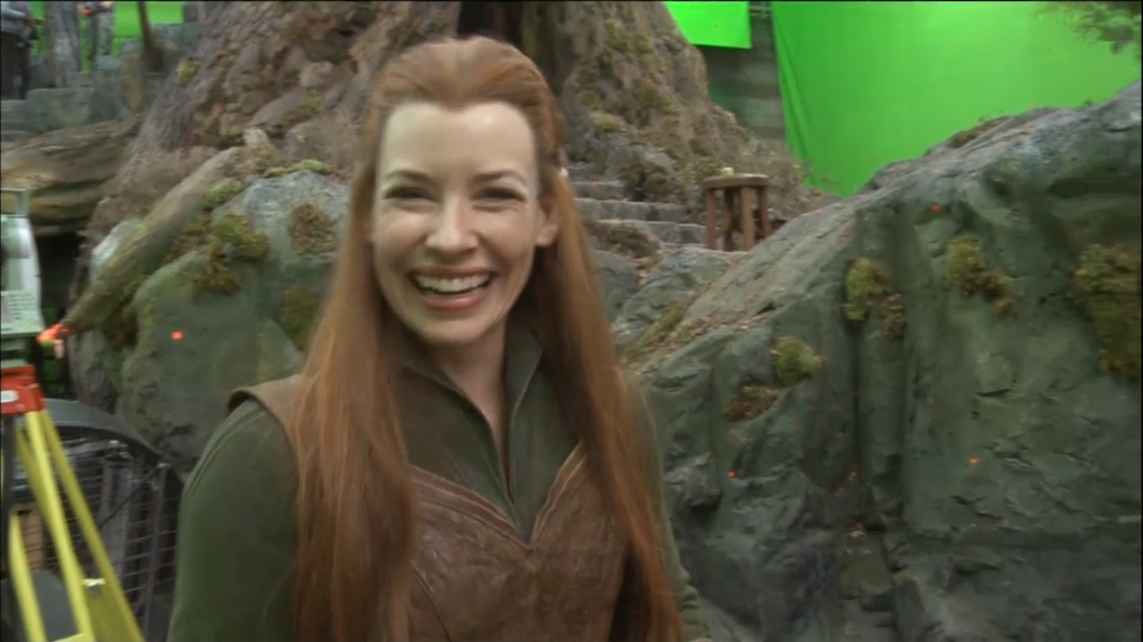 evangeline lilly as tauriel in hobbit wallpapers   Evangeline Lilly as 1280x720