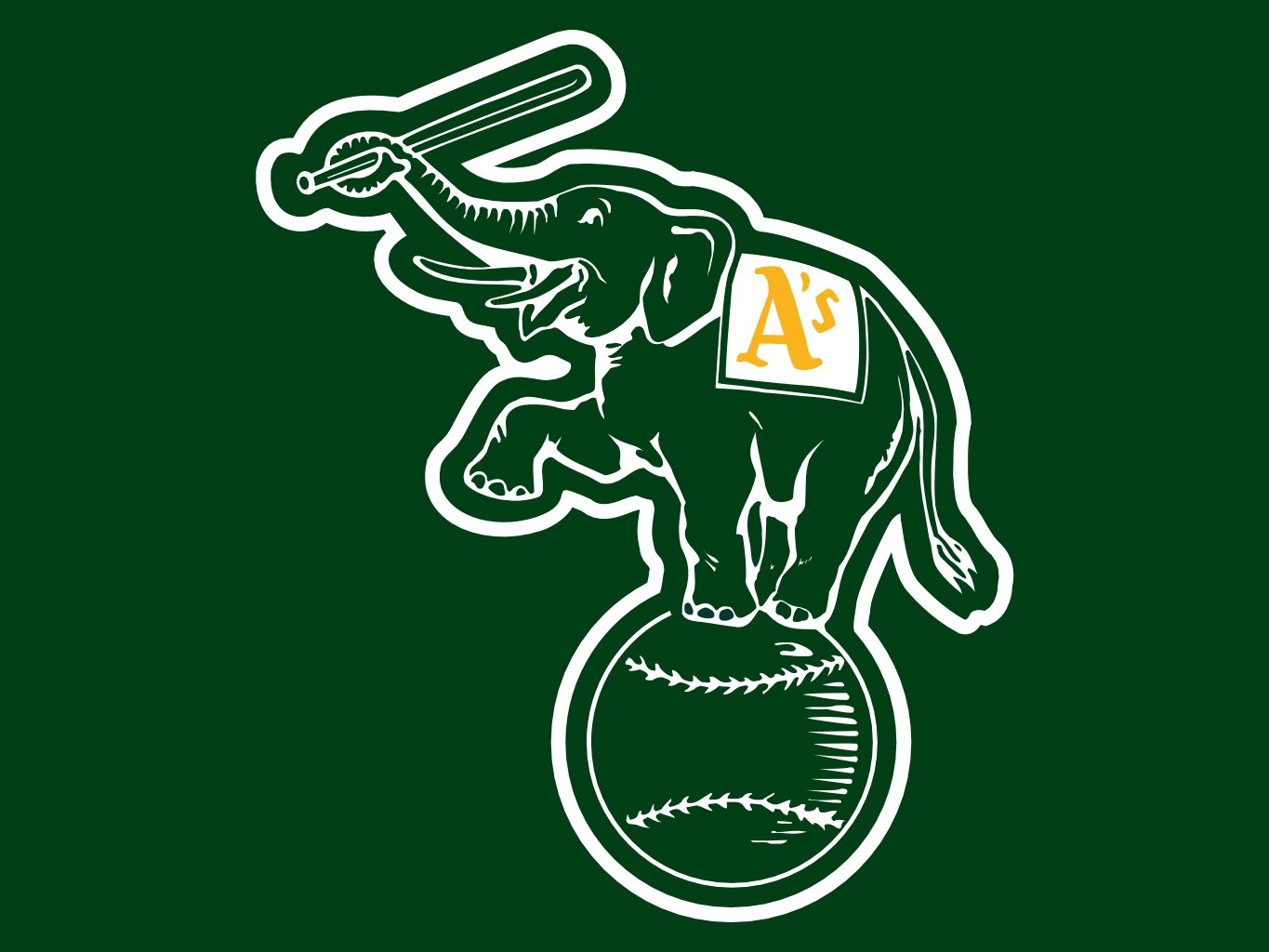 Oakland Athletics Desktop Wallpaper 1365x1024