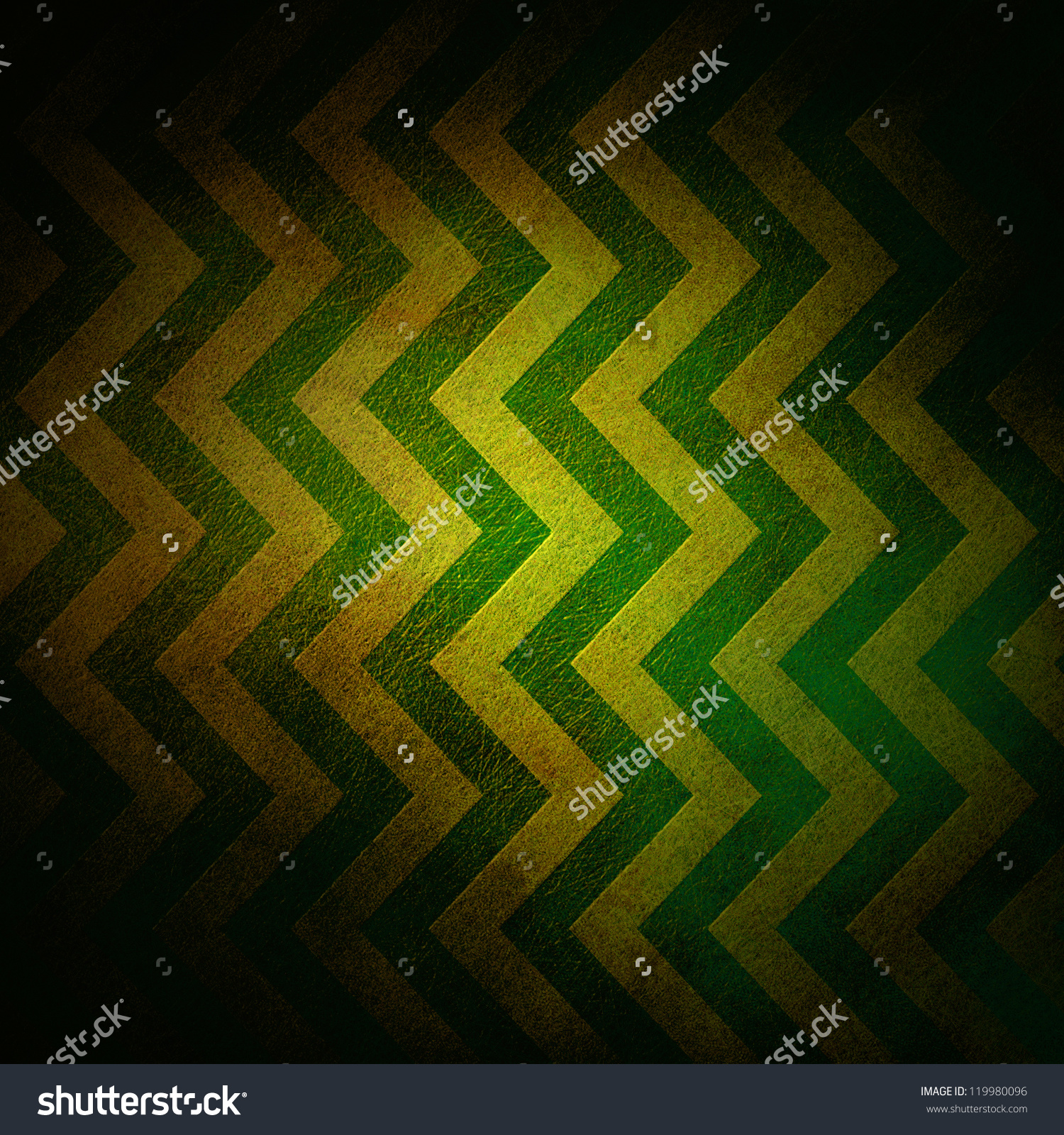 abstract gold background zigzag pattern stripe lines in chevron green 1500x1600