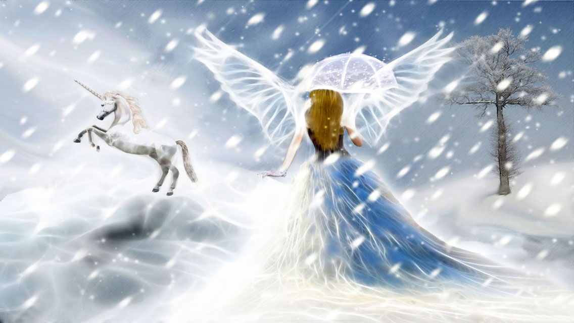Download Christmas Angels HD Wallpapers for iPhone 5 HD 1136x640